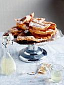 Crostoli, sweet food on table