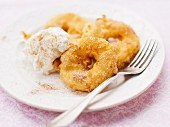 Apple fritters in a beer batter
