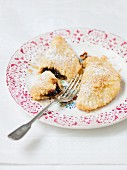 Powidltascherl (potato pastries with plum jam)