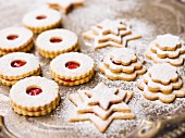 Shortbread biscuits and tiered biscuits
