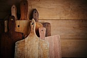 Still Life of assorted wooden cutting boards