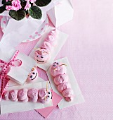 Meringue caterpillars