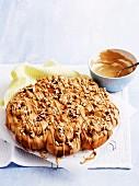 Cinnamon buns with coffee glaze