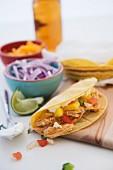 Mexican chicken taco