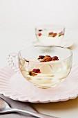 Fruit in cup of tea