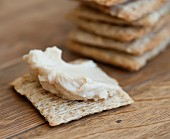 Cracker with houmous