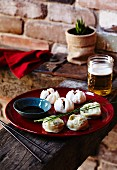 Dim Sum with pork, soy sauce and beer (China)