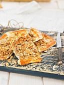Chicharrones with pine nuts (Spain)