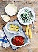 Cannelloni mit Spinat und Ricotta (ungekocht)