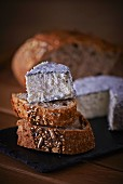 Goat's cheese and seeded bread