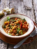 Spiced lentil and bean stew