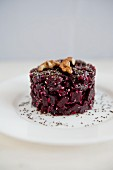 Beetroot salad with seeds and walnuts