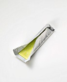 Chewing gum in silver paper