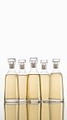Bottled Light Vinegar on White Background
