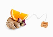 Tea Ingredients (Ginger, roses, orange)