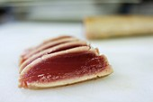 A few slices of seared tuna