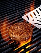 A Hamburger on the Grill