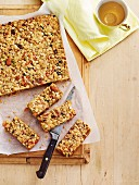 Homemade apricot and muesli slices
