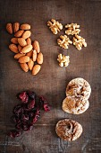 Dried fruit, almonds and walnuts