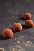 Home-made marzipan truffles