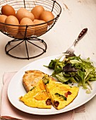 Omelette with roasted vegetables