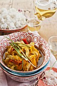 Pork with finely sliced vegetables (Asia)