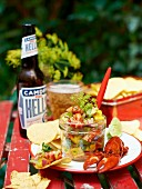 Crayfish ceviche with nachos