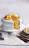 Cassata on a cake stand