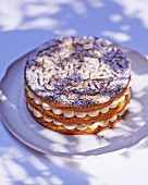 Gateau tropezienne with vanilla cream (France)