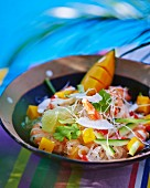 Prawn salad with mango and glass noodles