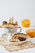 Orange ginger biscotti with oranges