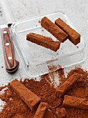 Chocolate fudge sticks