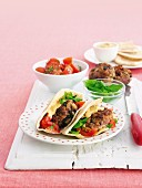 Lamb and couscous rissole pitas meal planner