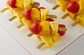Mango and strawberry kebabs
