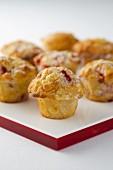 White chocolate and cherry muffins
