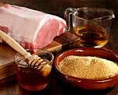 Zutaten für Schinken mit Honigglasur