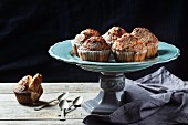 Homemade muffins with brown sugar