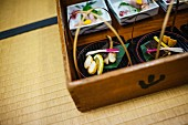 Small Dishes of Fish and Vegetables, Kaiseki Style, Close Up, Japan