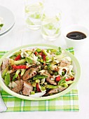 Sausage and noodle salad