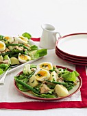 Warm tuna and egg salad