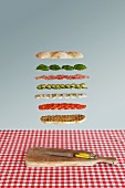 Italian sandwich deconstructed