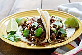 Tacos with pulled beef
