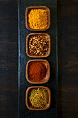 Four types of spices