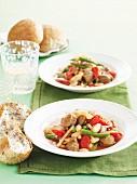 Sausage and tomato stew