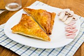 Ham and mushroom pasties