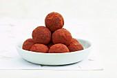 Chocolate cranberry truffles