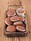 Whoopie pies with a marshmallow filling