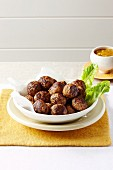 Lamb meatballs with Dijon mustard