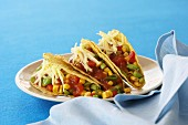 Tacos with a spicy corn filling