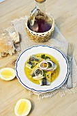 Sardines in olive oil and lemon juice